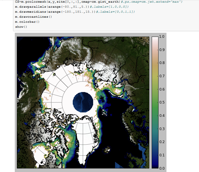 Python is used for overlays maps earth py