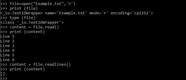 Python file handling: Printing the content of a text file into a Python  list (empty list)