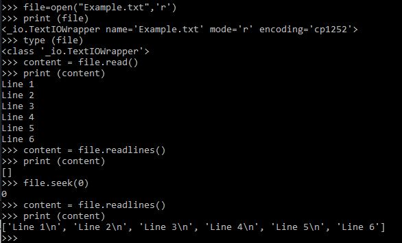 Python file handling: Printing the content of a text file into a Python  list