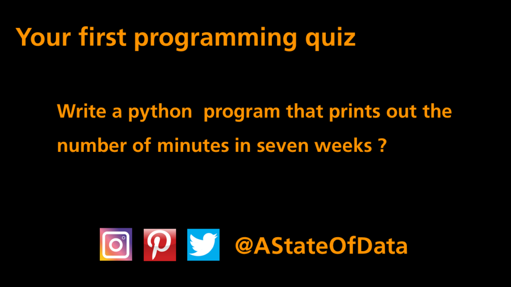 First Programming Quiz