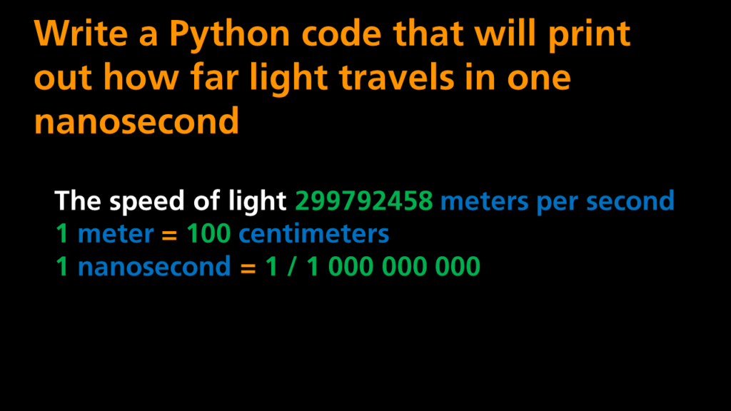 Python Programming - The Speed Of Light Quiz
