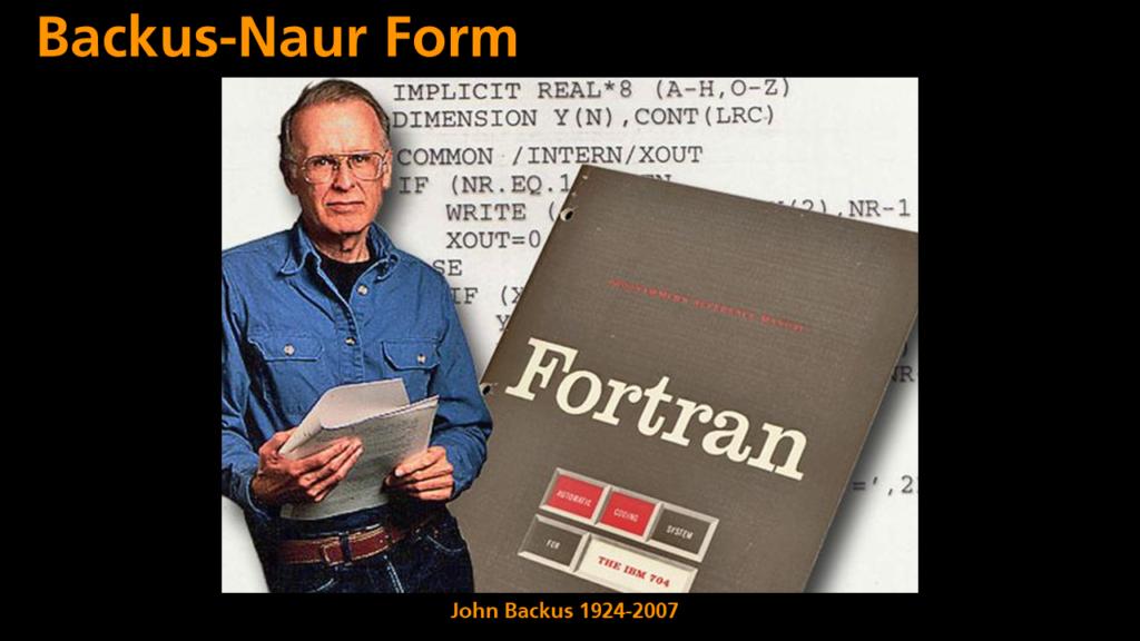 Python Programming - John Backus (1924-2007)