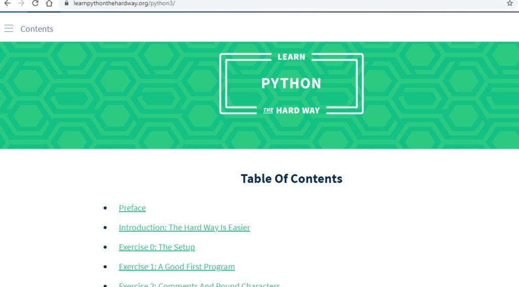Learn Python The Hard Way Website